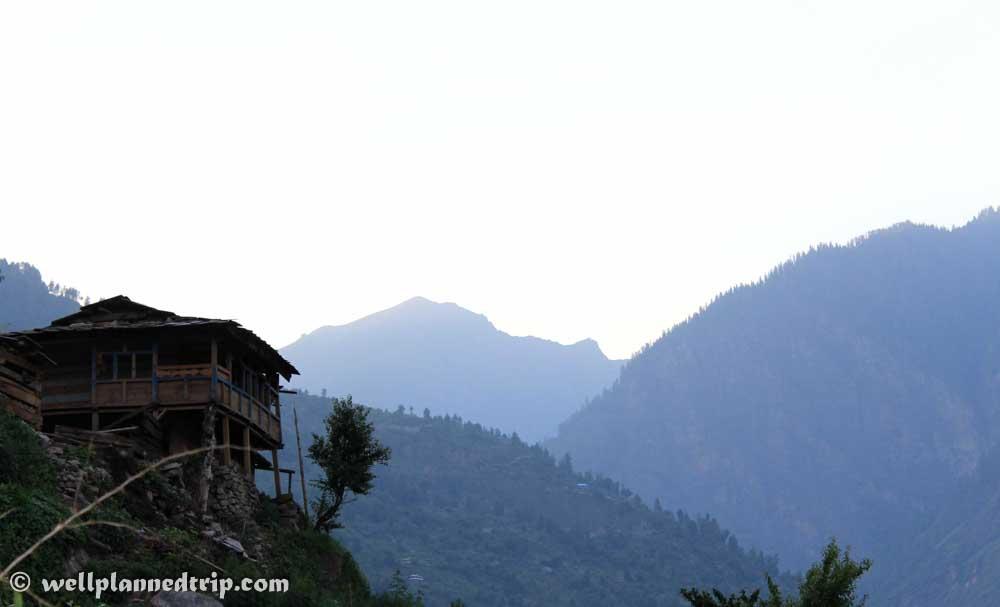 View of a Village House : RUPIN PASS TREK