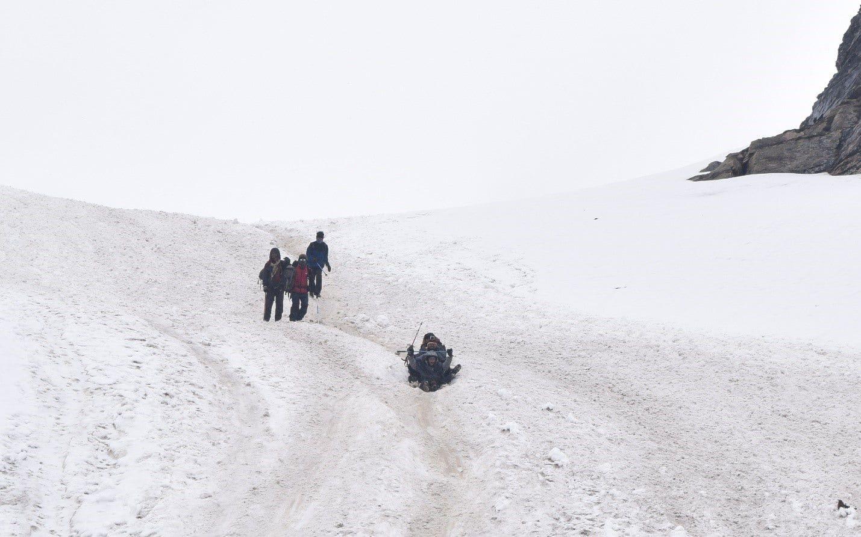 RUPIN PASS SNOW SLIDE