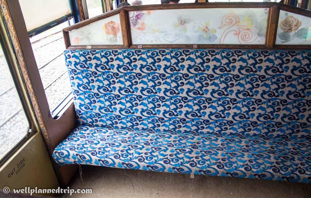 Ooty Nilgiri Mountain railway seats