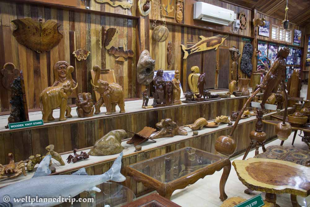 Andaman wooden crafts. Museum, Chatham Saw Mill, Port Blair, Andaman