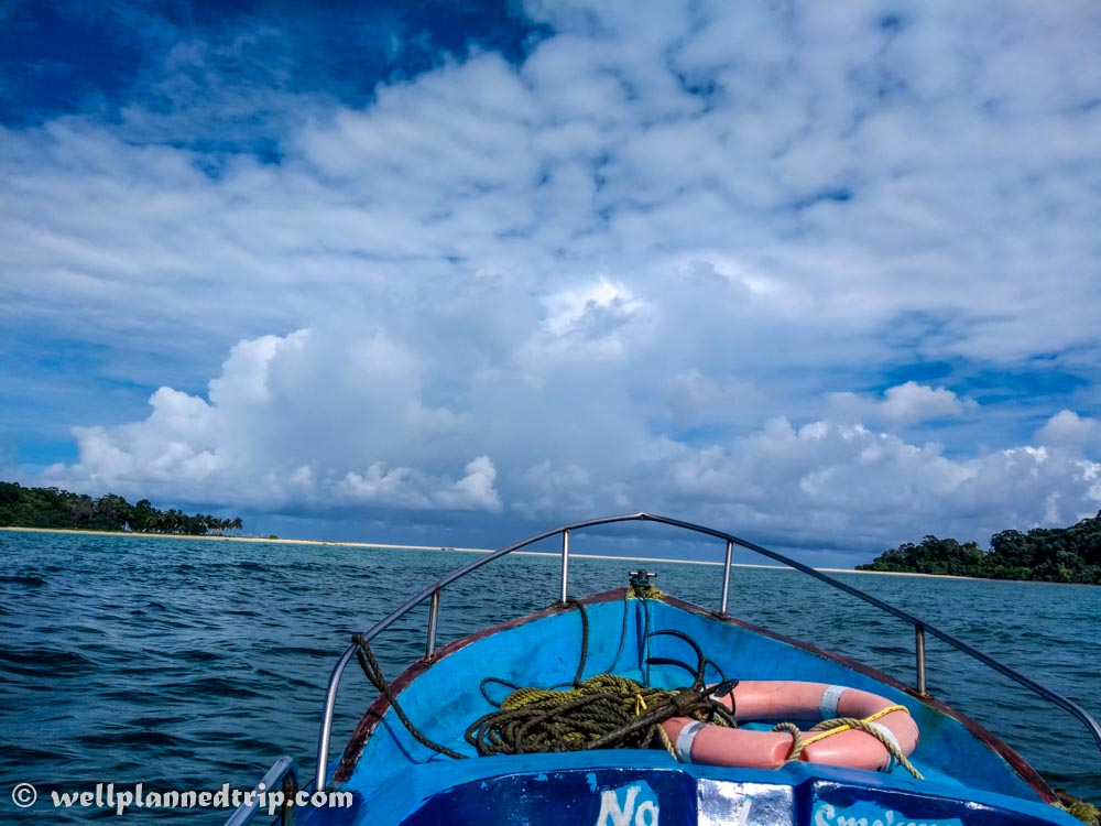 We are about to reach our dream island. First view of Ross & Smith Island, Diglipur, Andaman
