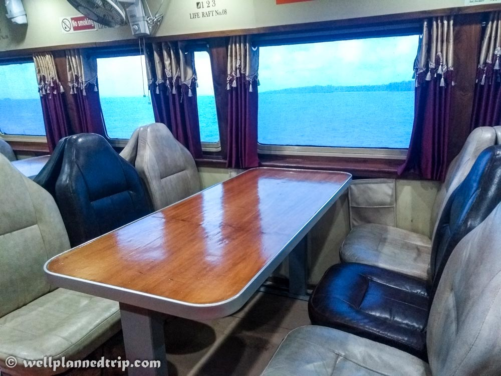 Green ocean Luxury seats, Andaman Ferry service