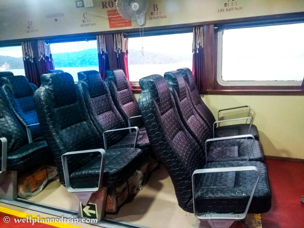 Green ocean Royal seats, Andaman Ferry service