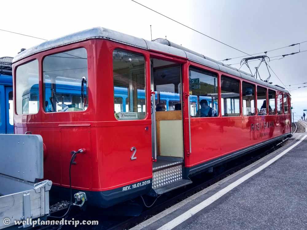 Calssic Rigi round trip, Cogwheel train, Lucerne, Switzerland