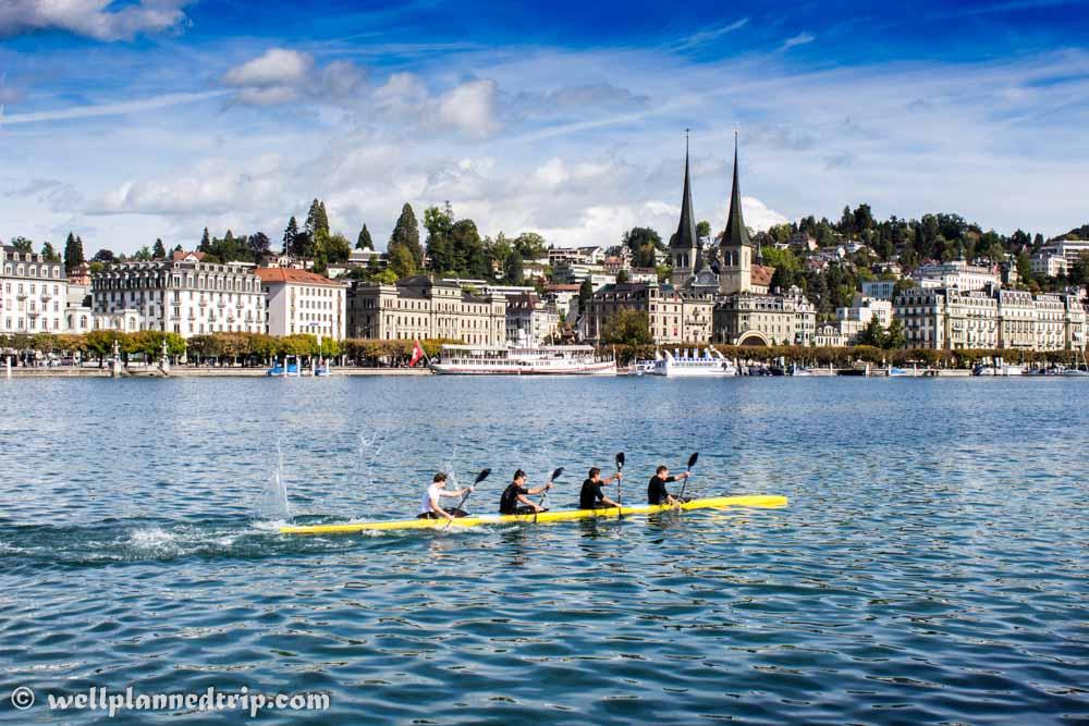 Lucerne Lake, rowing, switzerland