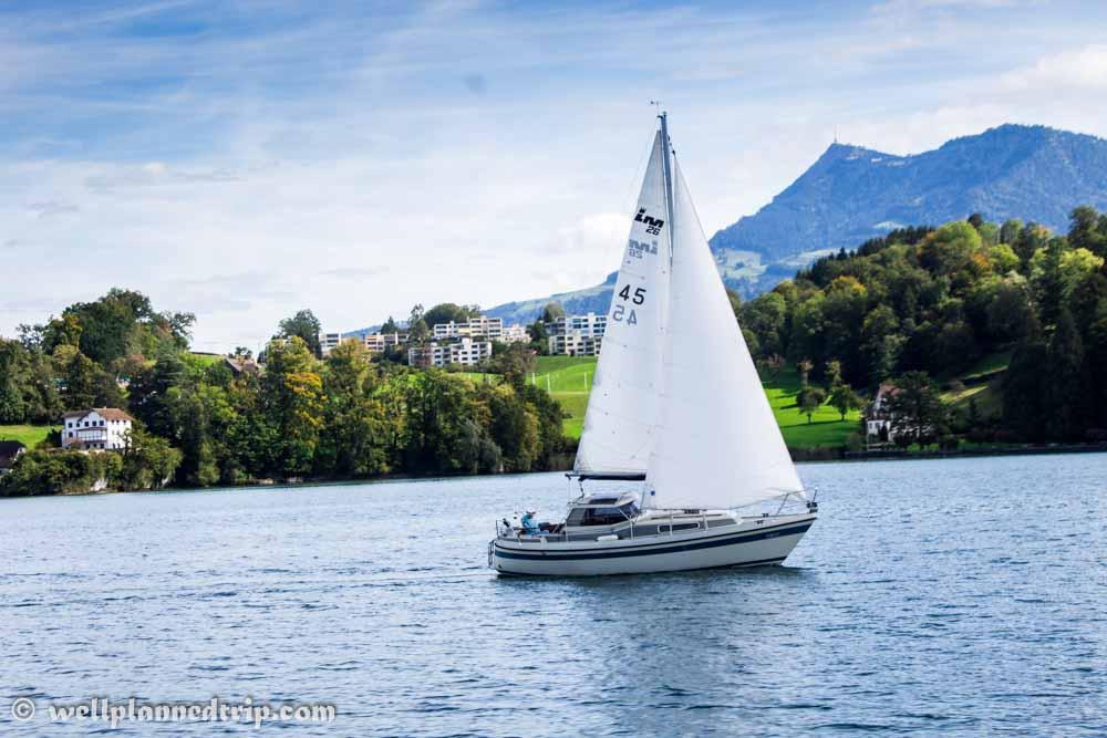 Lucerne Lake boating, switzerland