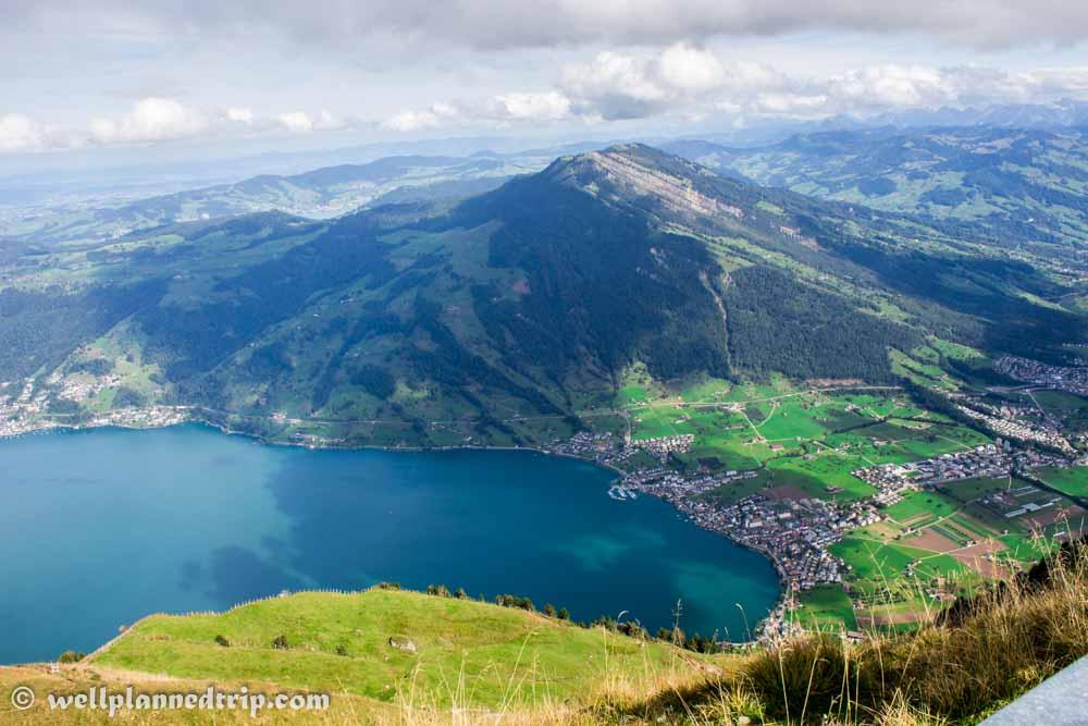 View from Mount Rigi Top, Switzerland