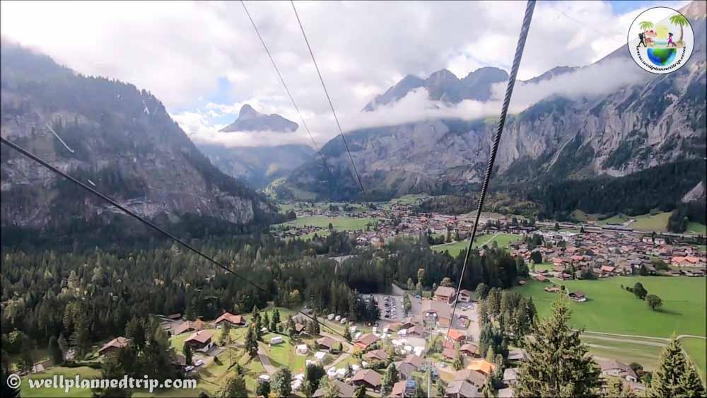 Kandersteg Mountain coaster ride Kandersteg pipe ride cable car to oischinnen top Switzerland