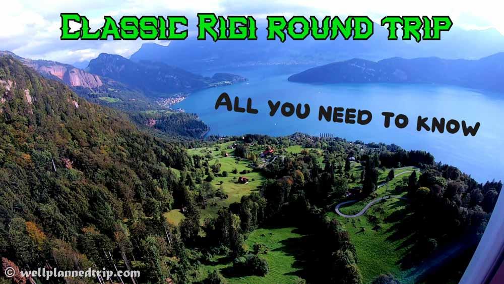 Calssic Rigi round trip, Lucerne, Switzerland