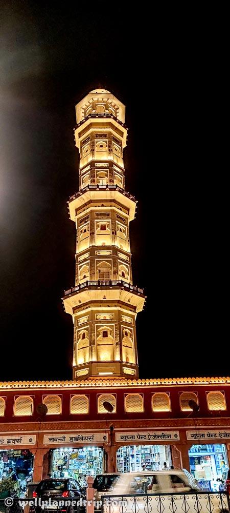 Isarlaat night view, Jaipur, Rajasthan