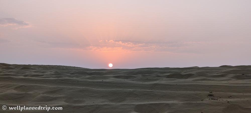 Sun rise jeep safari, Sam sand dunes, Jaisalmer, Rajasthan