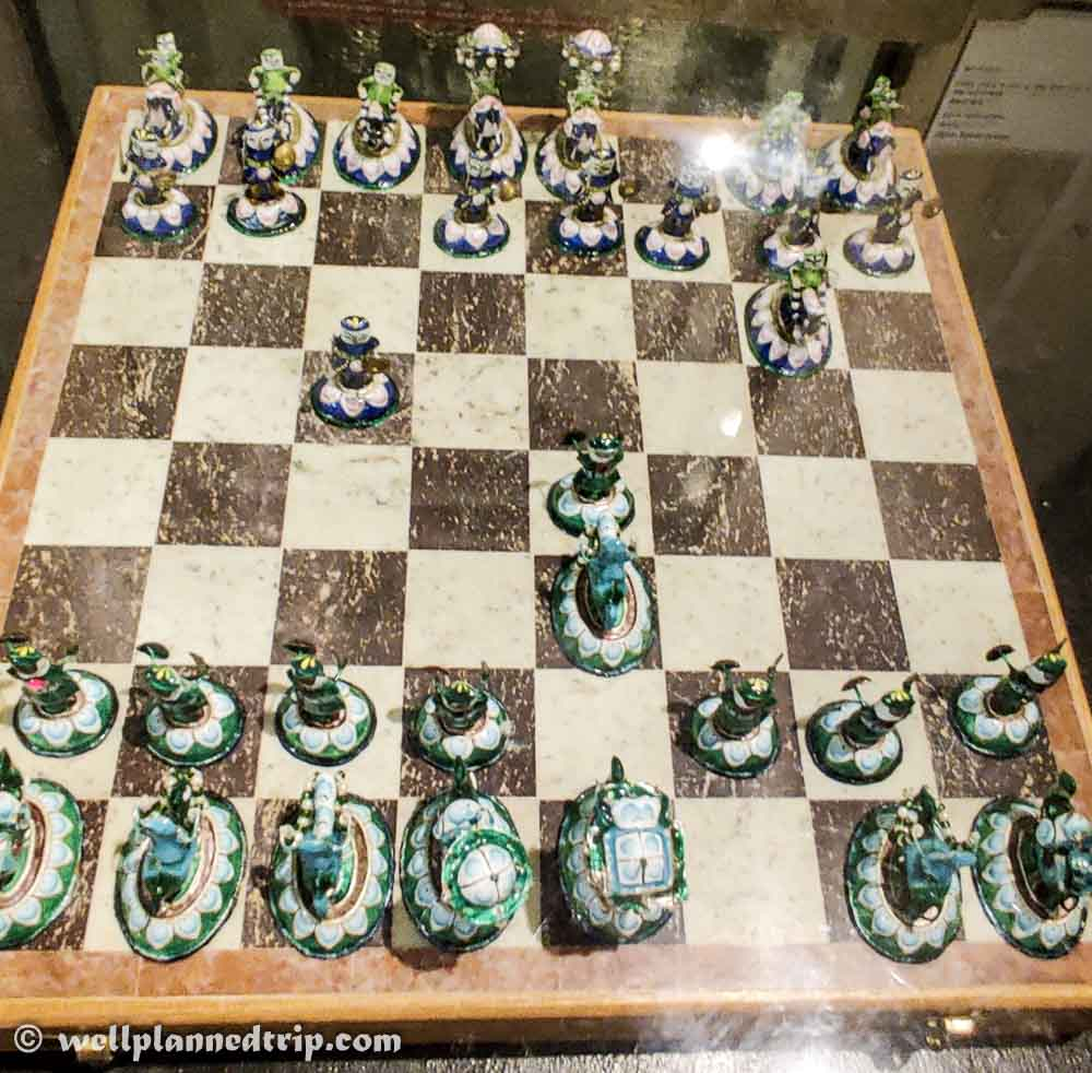 Chess board used in 19th century, City palace, udaipur, Rajasthan