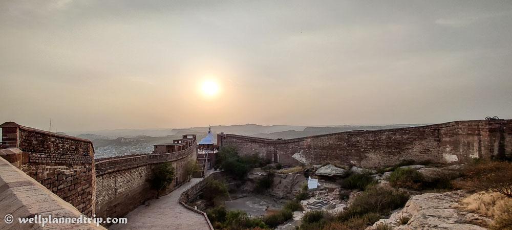 Temple inside Mehrangarh fort, Jodhpur, Rajasthan