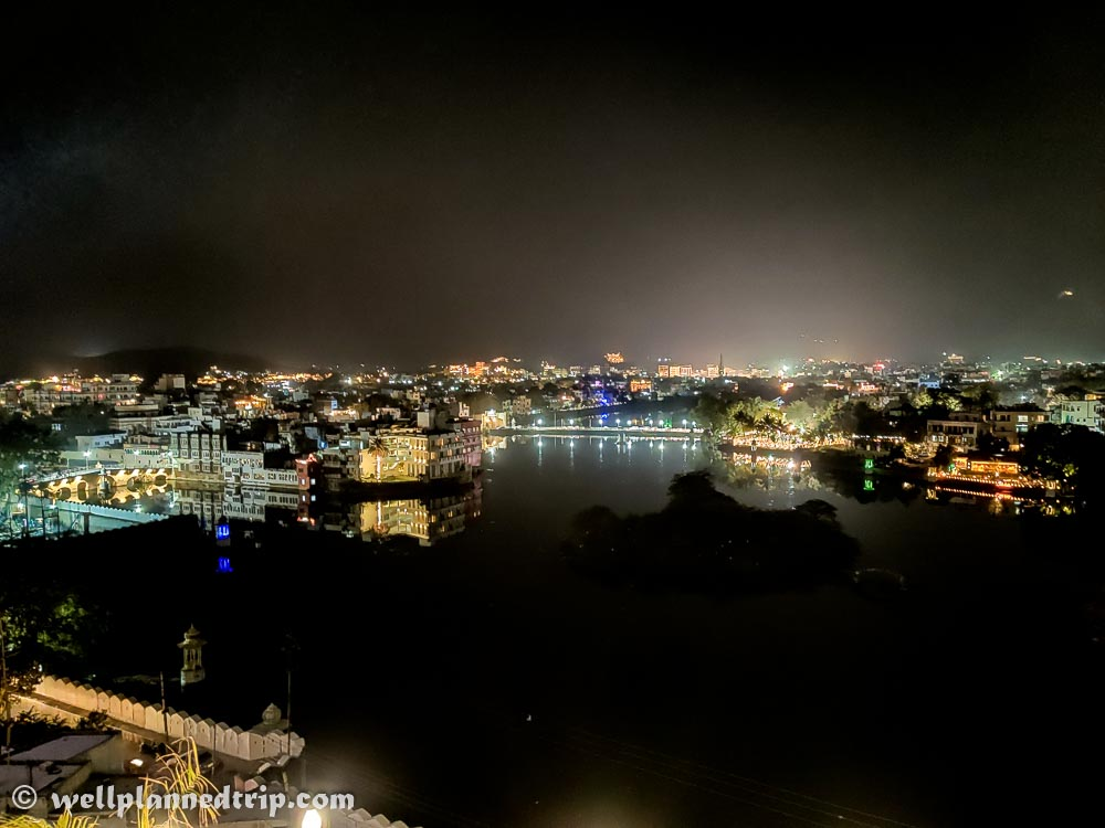 View from the roof top, Mewari Villa, Udaipur, Rajasthan