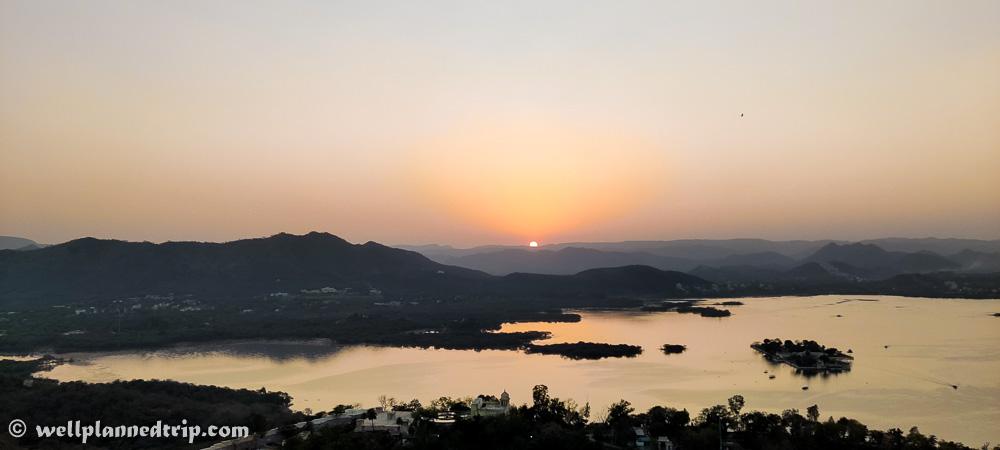 Sunset, Karni mata temple, Udaipur, Rajasthan