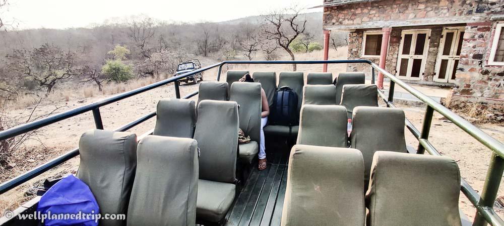 Canter & Jeep , Ranthambore national park safari
