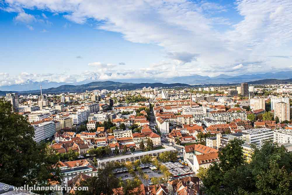 View from the top of  Ljubljana Castle, Slovenia