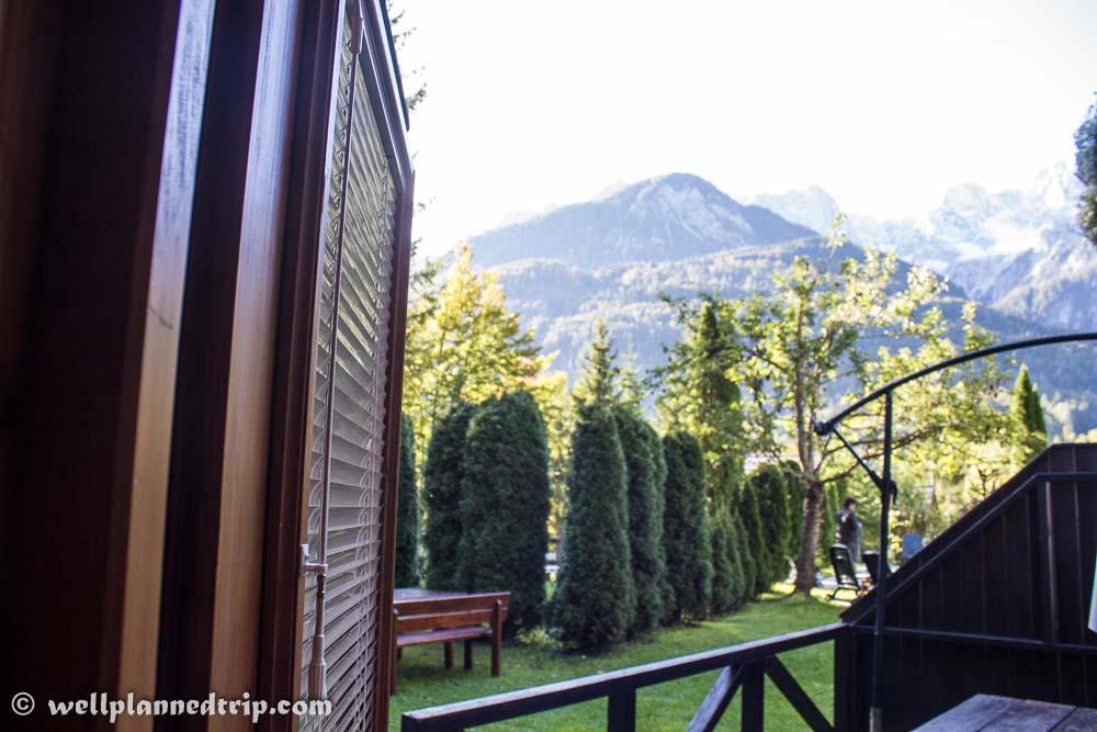 View from door, Vila Edelweiss, Kranjska Gora, Slovenia