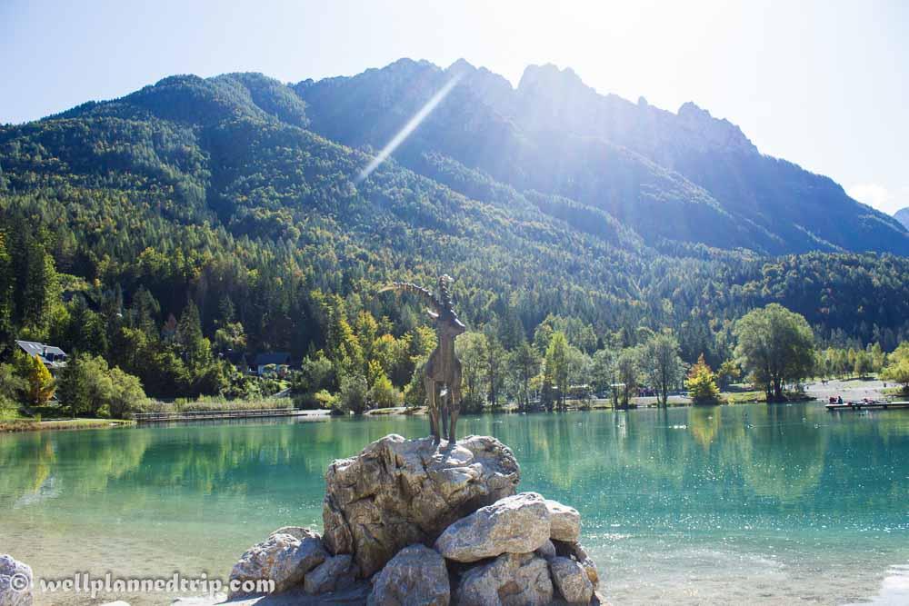 Golden horn, Lake Jasna, Kranjska Gora, Slovenia