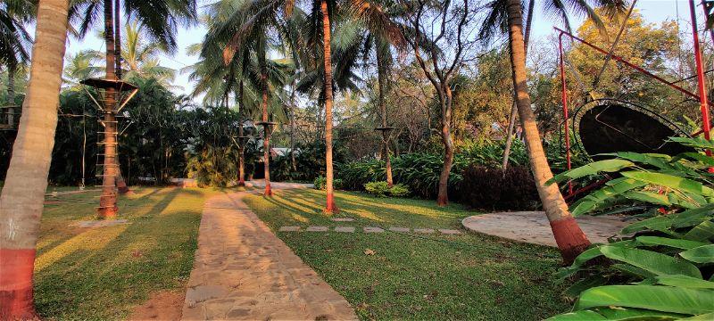 Bungee trampoline, Windflower Prakruthi Resort & Spa, Bangalore